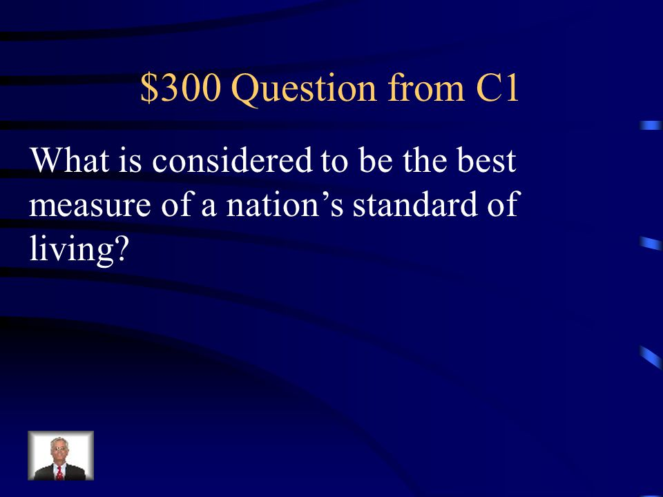 $300 Question from C4 The highest point in an economic expansion where Real GDP stops rising.
