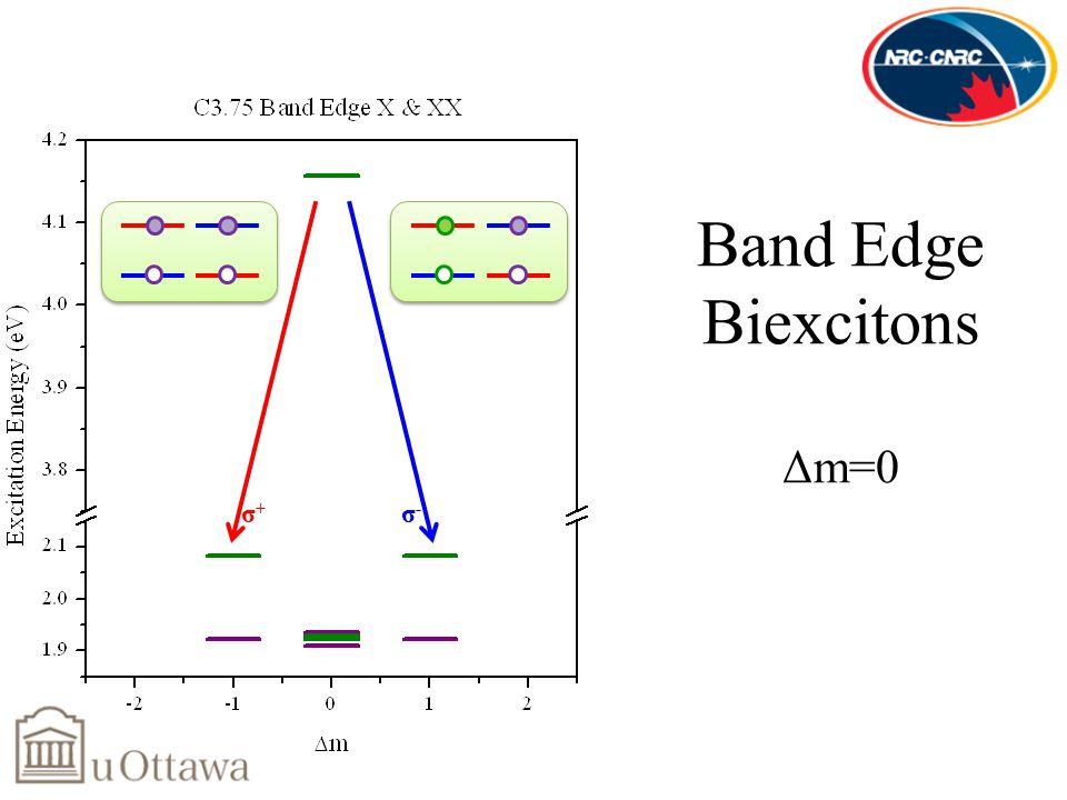 Band Edge Biexcitons Δm=0 σ-σ- σ+σ+