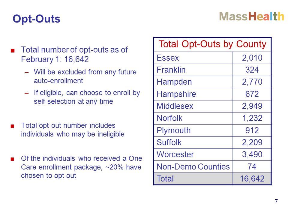 Visit us at www.mass.gov/masshealth/onecarewww.mass.gov/masshealth/onecare Email us at OneCare@state.ma.usOneCare@state.ma.us