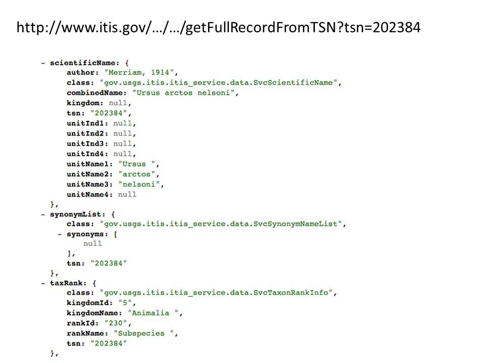 http://www.itis.gov/…/…/getFullRecordFromTSN?tsn=202384