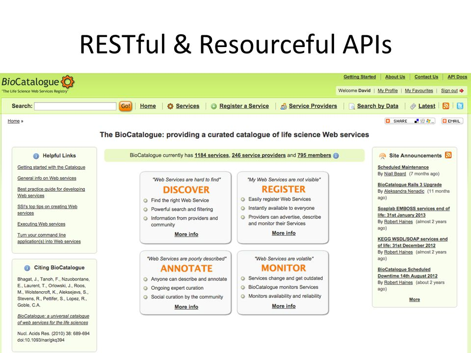 RESTful & Resourceful APIs