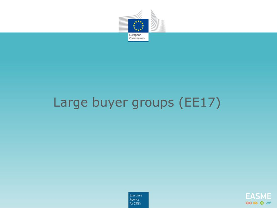 Large buyer groups (EE17)