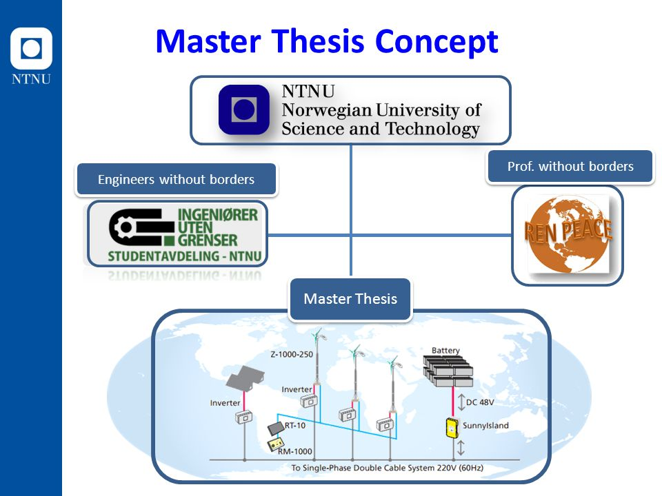 Master Thesis Prof. without borders Engineers without borders Master Thesis Concept
