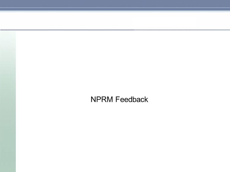 NPRM Feedback