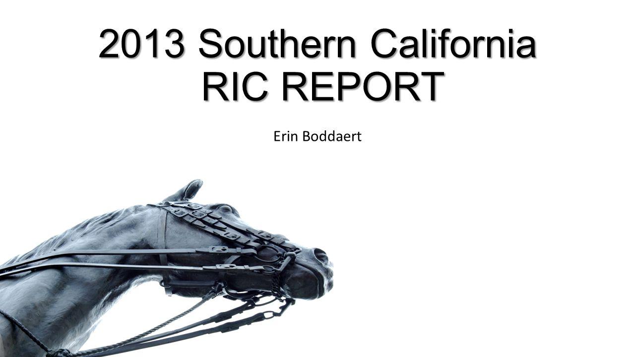 2013 Southern California RIC REPORT Erin Boddaert