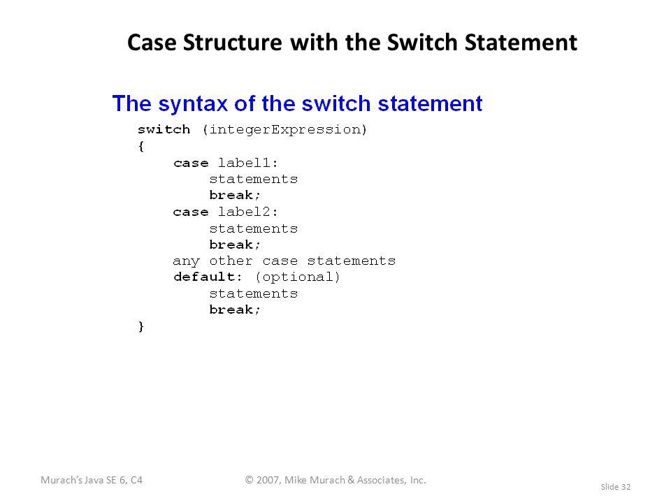 Murach's Java SE 6, C4© 2007, Mike Murach & Associates, Inc.