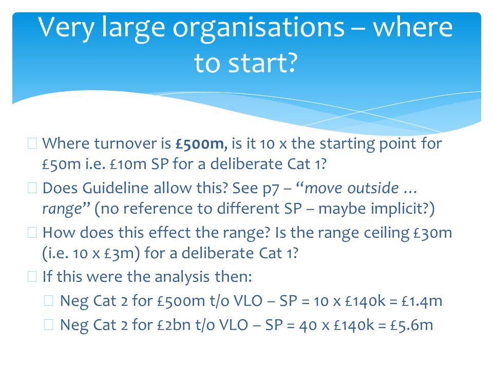Very large organisations – where to start.