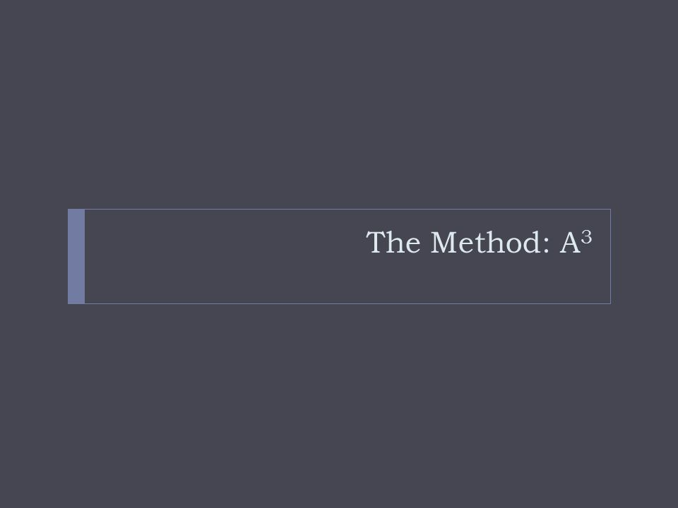 The Method: A 3