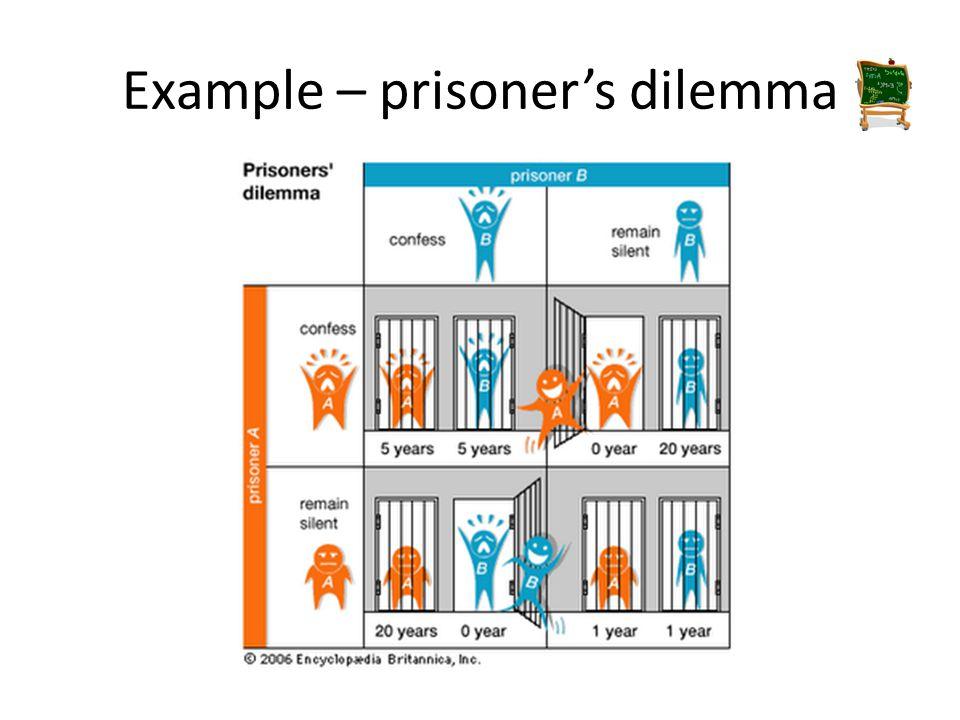 Example – prisoner's dilemma