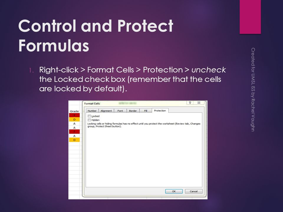 Control and Protect Formulas 1.
