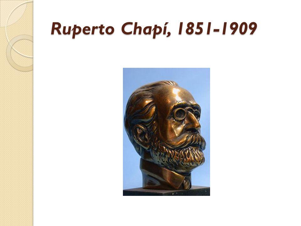 Ruperto Chapí, 1851-1909