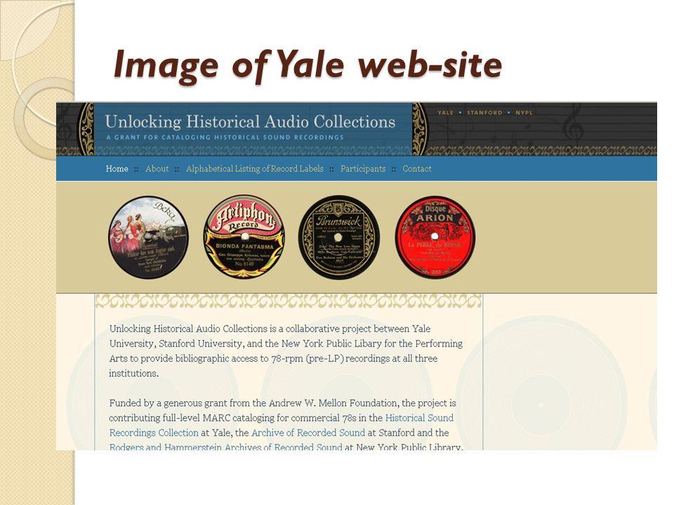 Image of Yale web-site