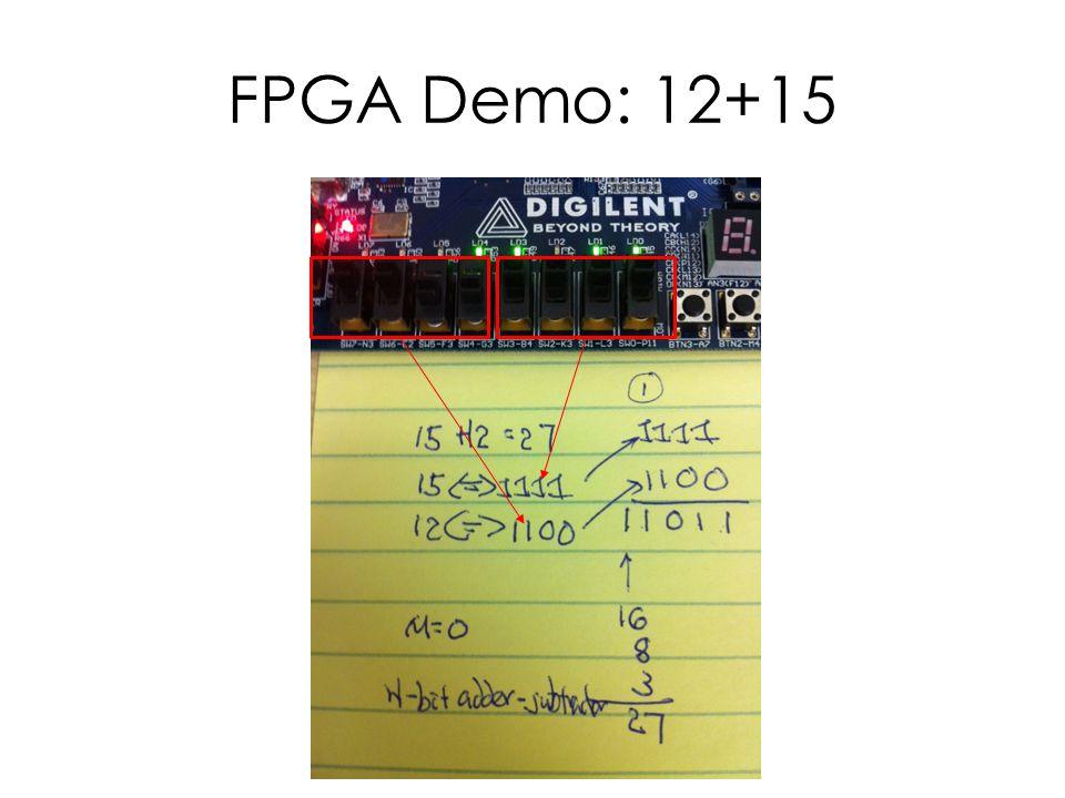 FPGA Demo: 12+15
