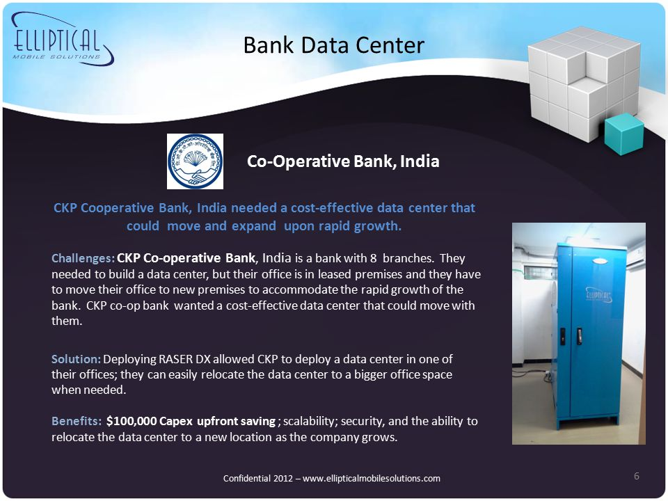 Bank Data Center 6 Challenges: CKP Co-operative Bank, India is a bank with 8 branches.
