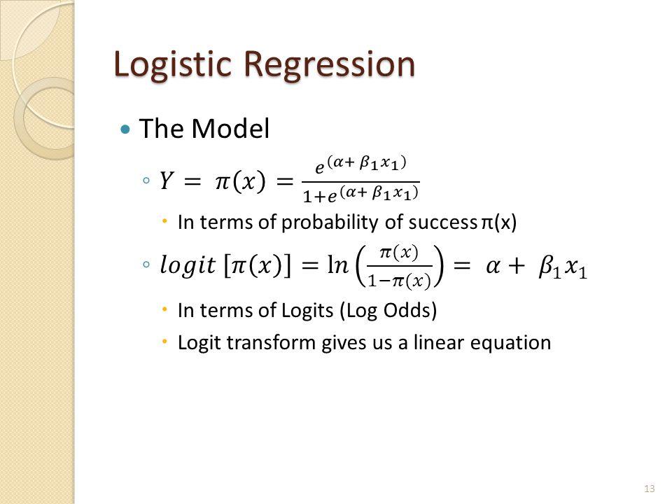 Logistic Regression 13