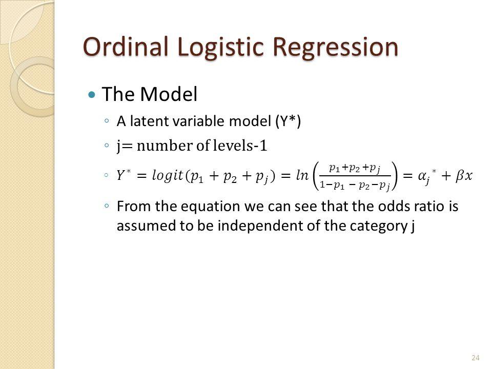 Ordinal Logistic Regression 24