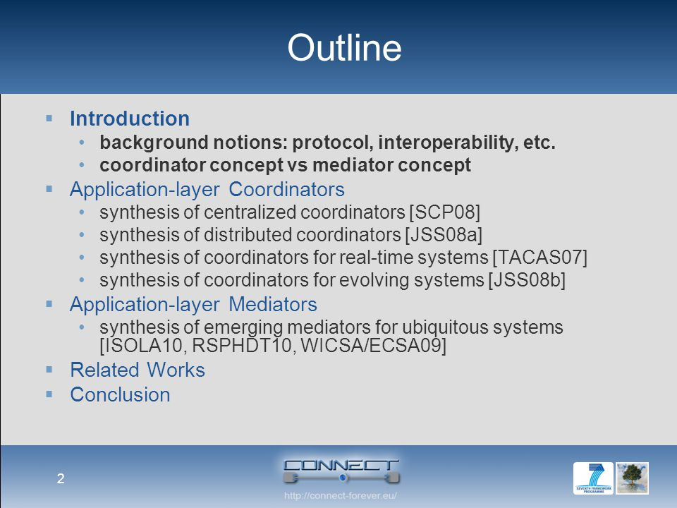 Introduction  The Ubiquitous Computing environment is populated by a wide variety of heterogeneous Networked Systems (NSs), dynamically appearing and disappearing  Heterogeneous protocols may be willing to cooperate in order to reach some common goal even though they meet dynamically and do not have a priori knowledge of each other  Challenge: how to automatically achieve the interoperability between heterogeneous protocols in the Ubiquitous Computing environment 3