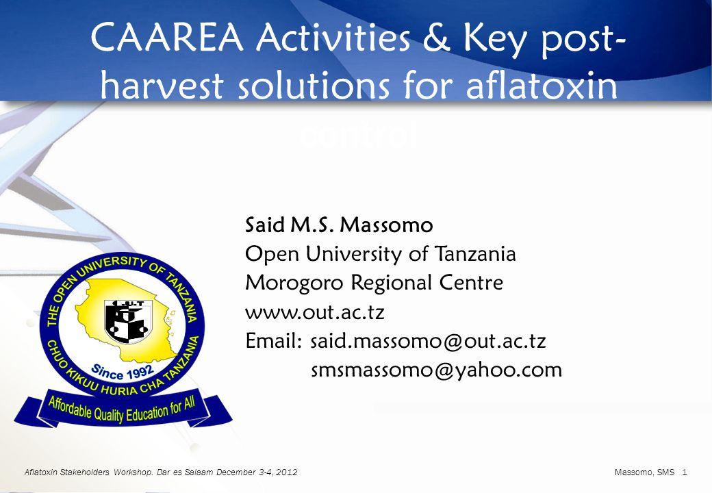 Aflatoxin Stakeholders Workshop.