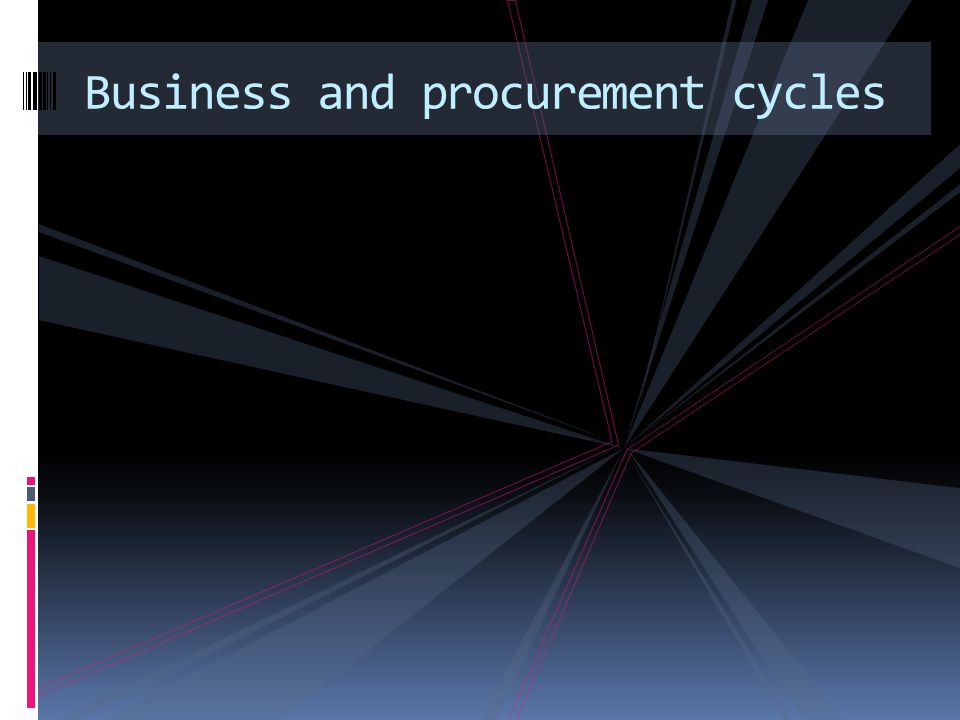 Business and procurement cycles