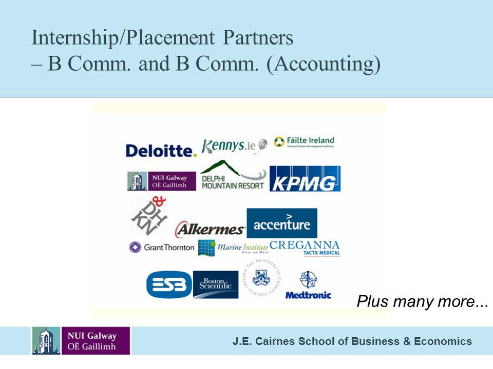 J.E.Cairnes School of Business & Economics Internship/Placement Partners – B Comm.