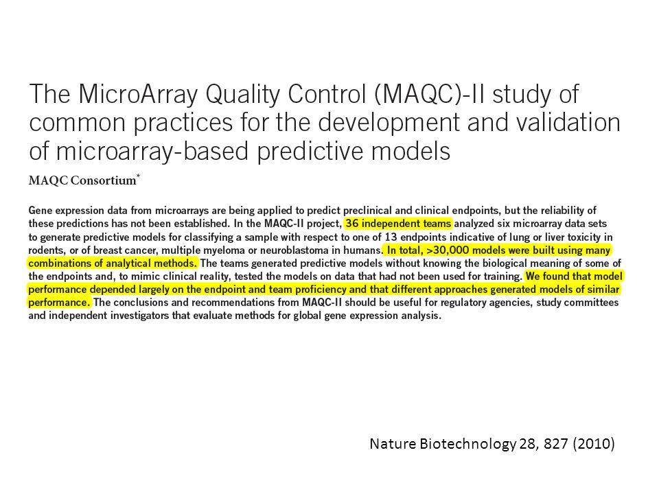 Nature Biotechnology 28, 827 (2010)