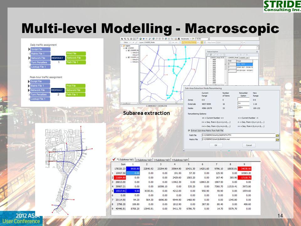Multi-level Modelling - Macroscopic 14 Subarea extraction