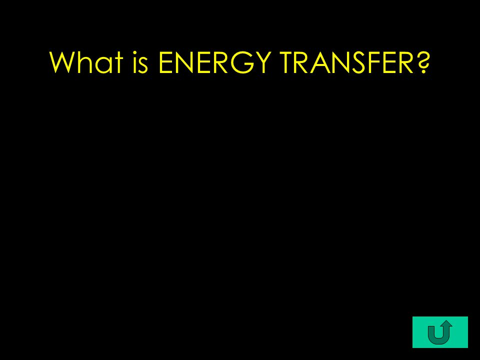 a change of energy from one form to another (e.g., mechanical to electrical, solar to electrical)