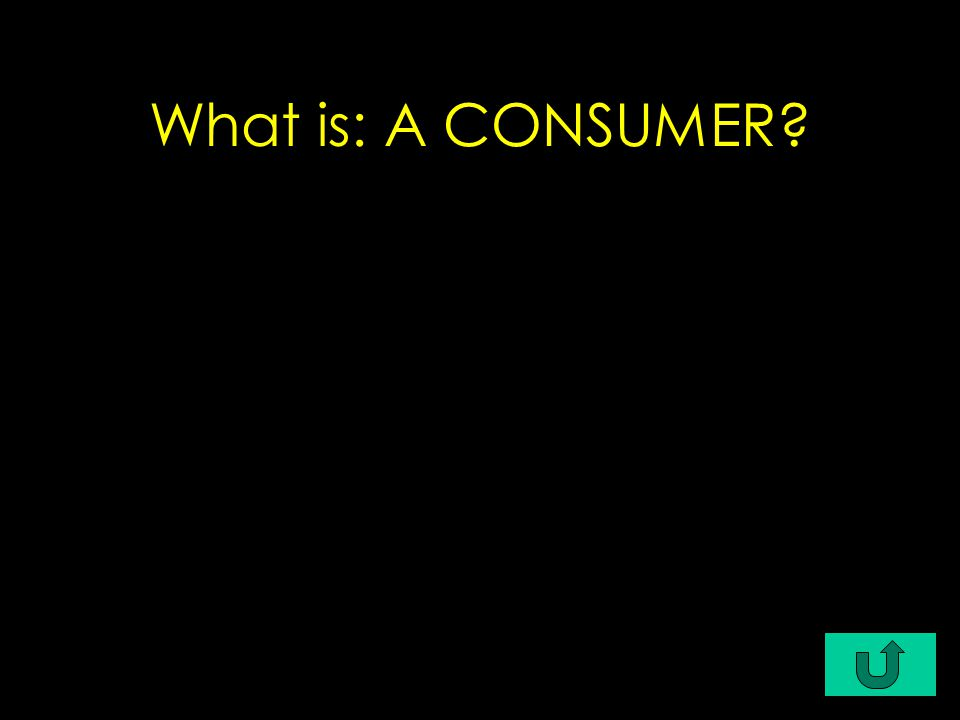 What is: A CONSUMER?