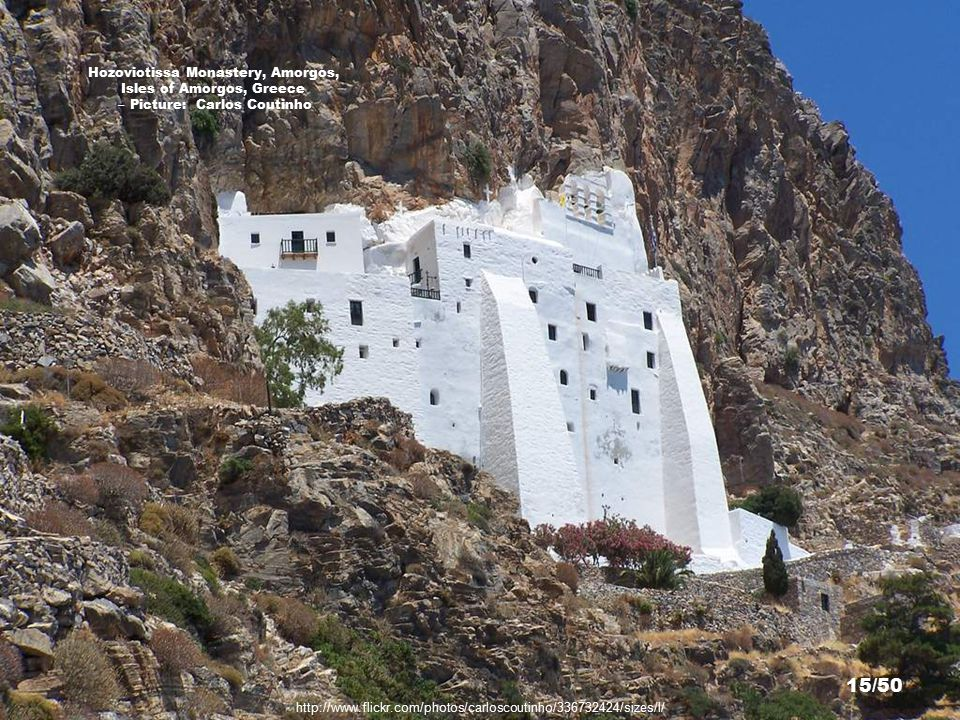 http://www.flickr.com/photos/61481347@N00/129988771/sizes/l/ Hozoviotissa Monastery, Amorgos, Isles of Amorgos, Greece – Picture: relong 14/50