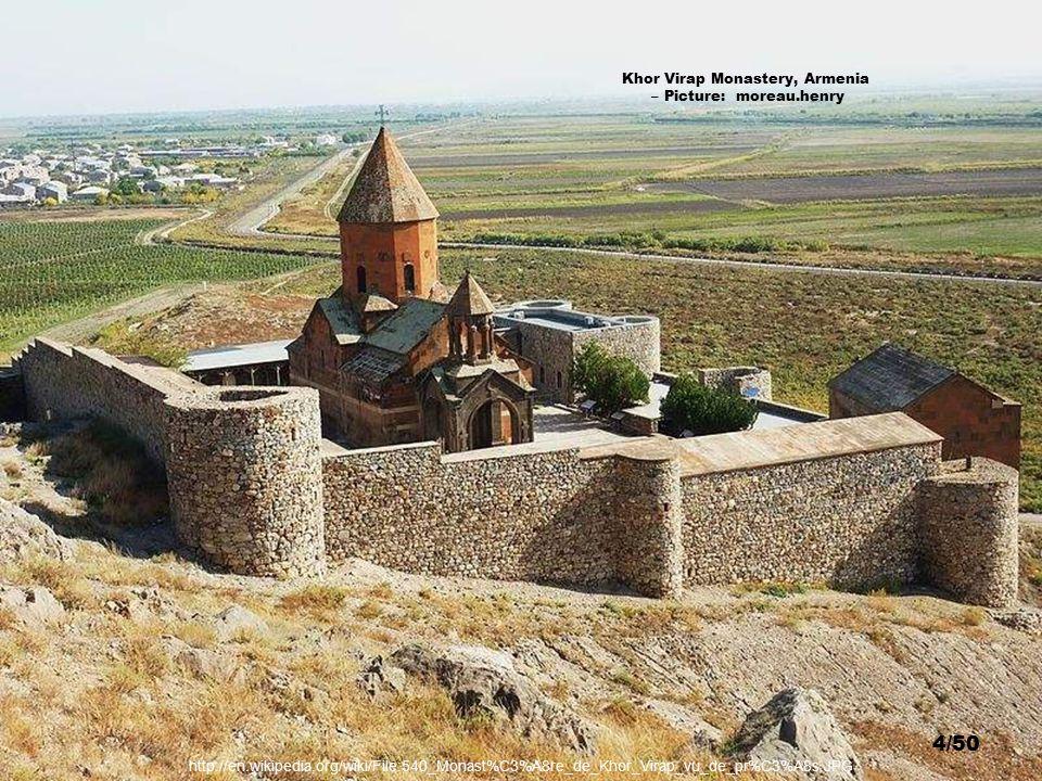 Khor Virap Monastery, Armenia – Picture: Andrew Behesnilian 3/50 http://en.wikipedia.org/wiki/File:Kohrvirab.jpg
