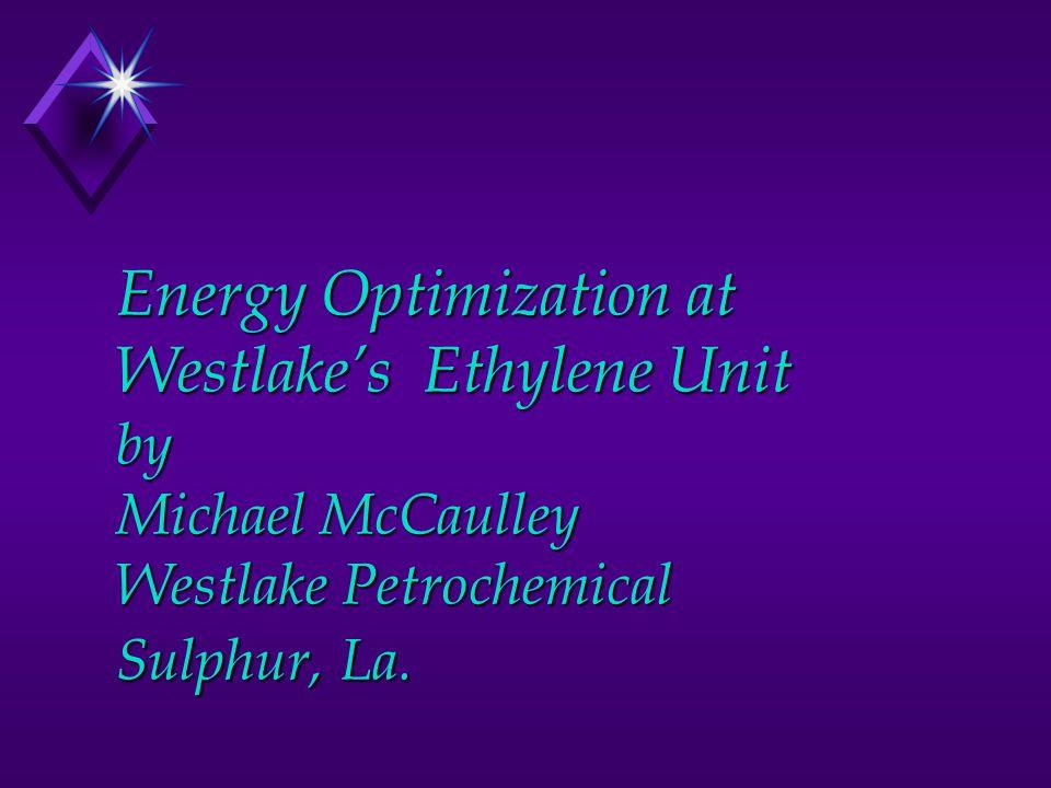 Energy Optimization at Westlake's Ethylene Unit by Michael McCaulley Westlake Petrochemical Sulphur, La.