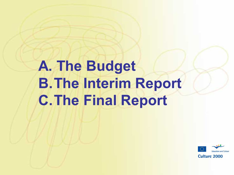 A. The Budget B.The Interim Report C.The Final Report