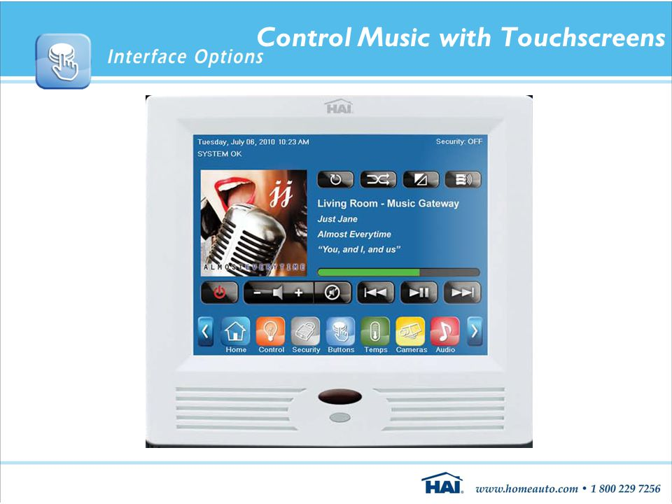 Control Music with Touchscreens