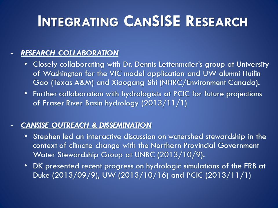 -RESEARCH COLLABORATION Closely collaborating with Dr.