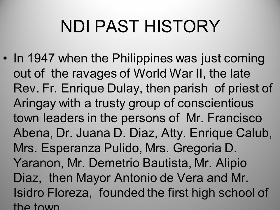 WHY WE ARE NEEDED Like the founders of our beloved Alma Mater in those dark days after the war, we are privileged to have this opportunity to put our heads together and to continue what they had started during the most trying times when they, themselves, had few resources.