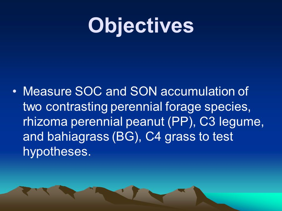 Species X CO 2 Interaction on Increase of SOC and SON SOC ratio of PP: 700/360 = 1.74 SOC ratio of BG: 700/360 = 1.10 Conclusion #2: Elevated CO 2 caused much greater increase of SOC for PP than BG