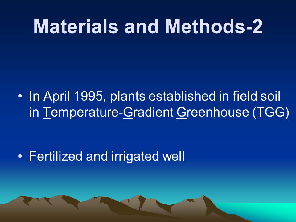 Materials and Methods-3 Temperature gradients of 4.5 Celsius were maintained with variable speed ventilation fans and on-off heaters.
