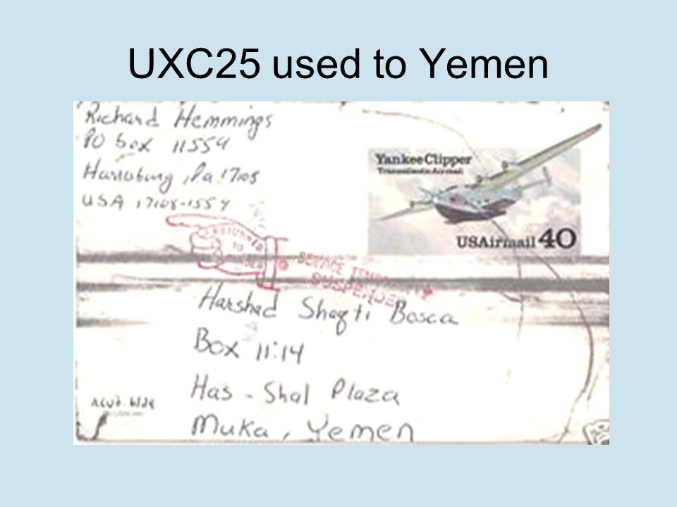 UXC25 used to Yemen
