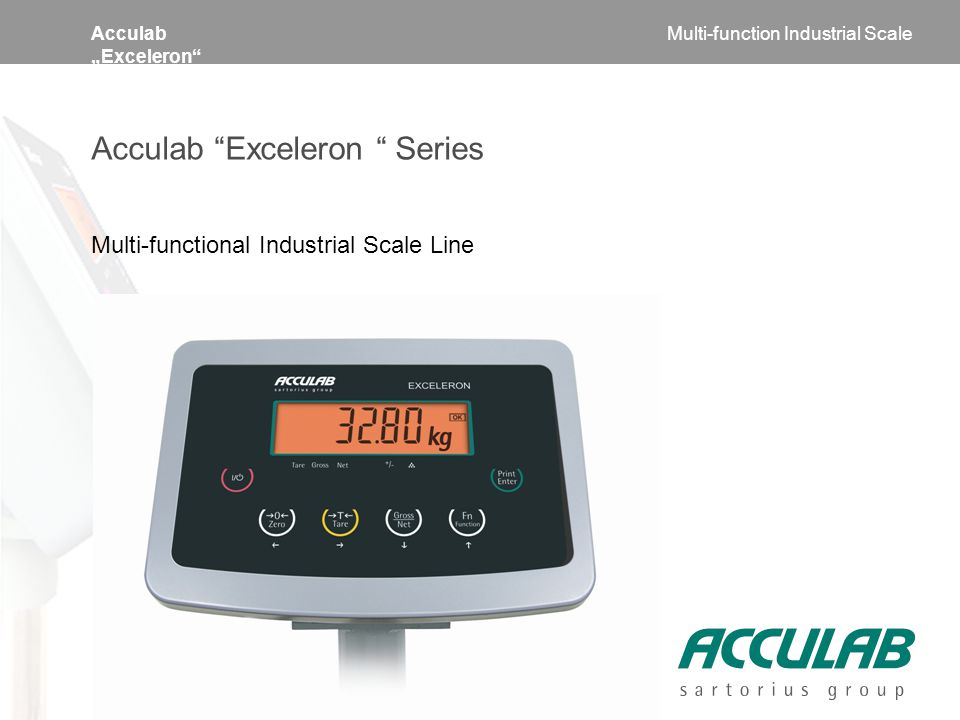 "Acculab ""Exceleron Acculab Exceleron Series Multi-functional Industrial Scale Line Multi-function Industrial Scale"