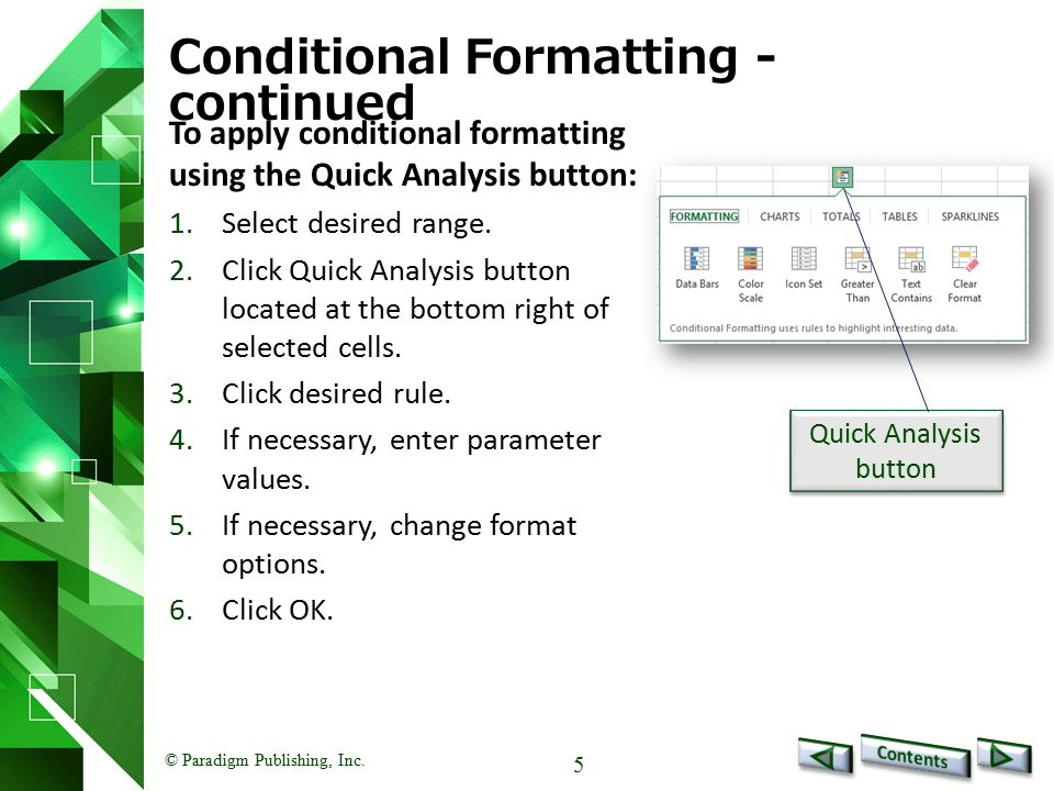 © Paradigm Publishing, Inc. 26 Create a Custom Number Format - continued