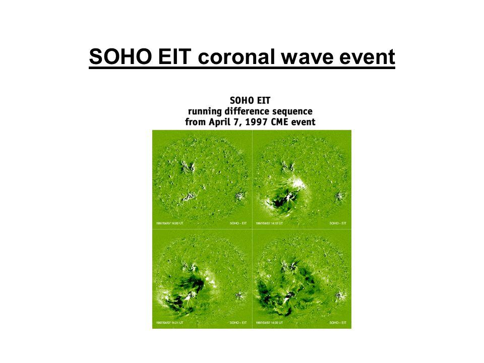 SOHO EIT coronal wave event