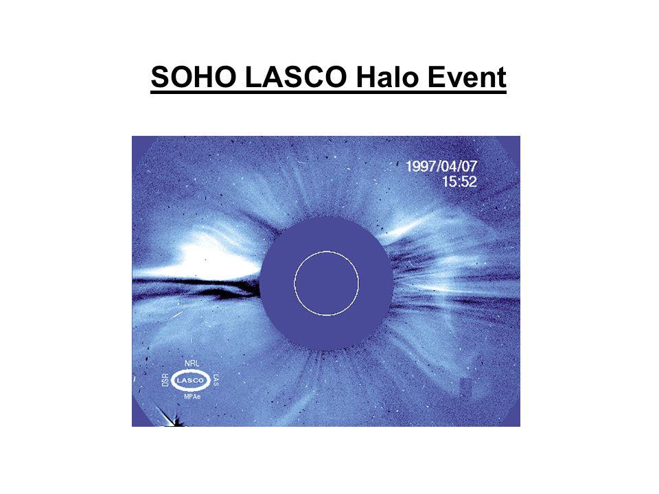 SOHO LASCO Halo Event