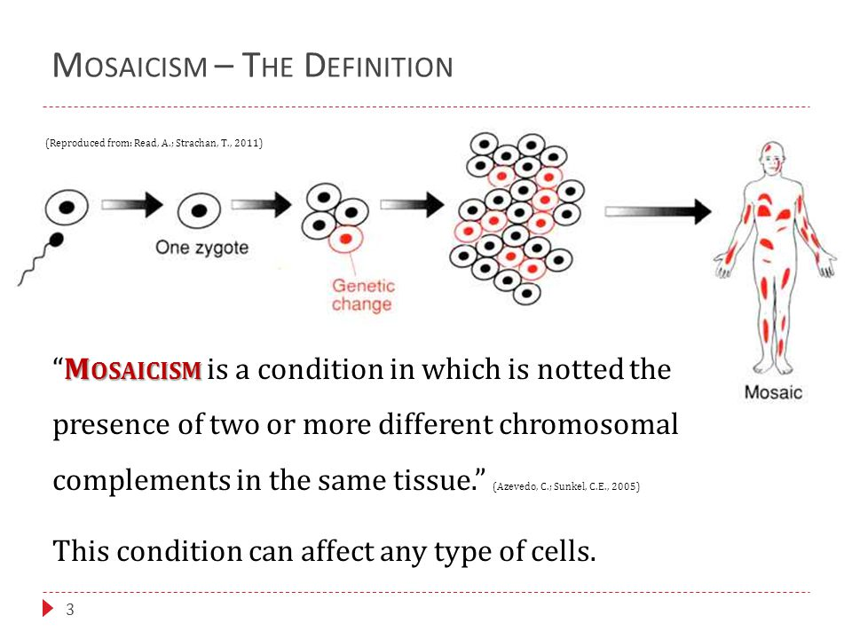 C ANCER 14  Several recent studies have reported, that the probability of progression to cancer can depend on the degree of mosaicism in a tissue.
