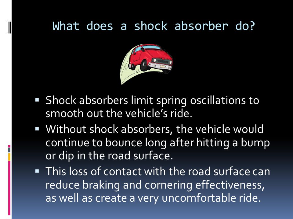 What does a shock absorber do.
