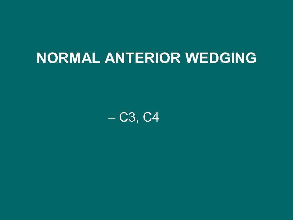 NORMAL ANTERIOR WEDGING –C3, C4