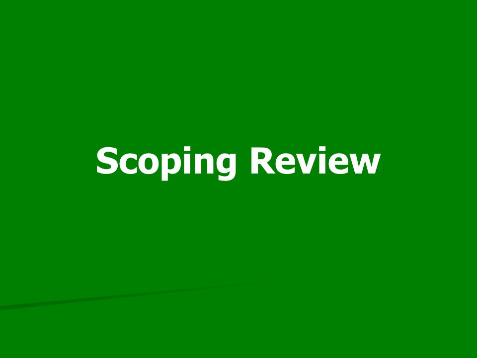 Scoping Review