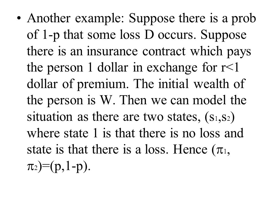 If we plot outcomes in the good state on the X and those in the bad state on the Y.