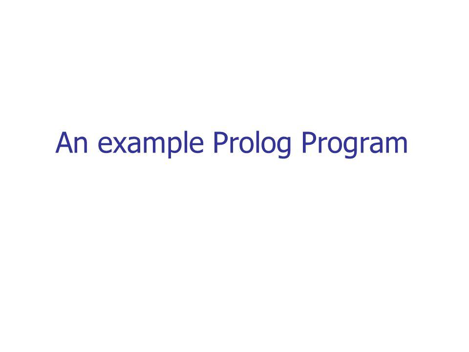 An example Prolog Program