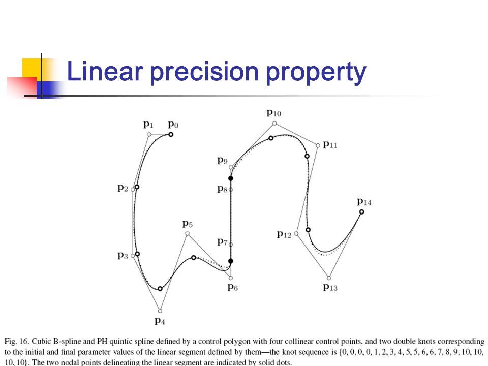 Linear precision property