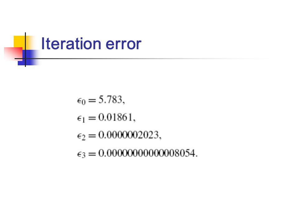 Iteration error